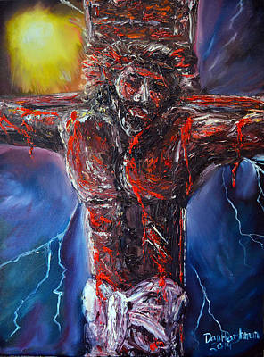 Pallet Knife Painting - No Greater Love by Dan Harshman