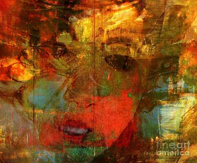 Meaningful Mixed Media - No Helping Shadow - Just Pain by Fania Simon