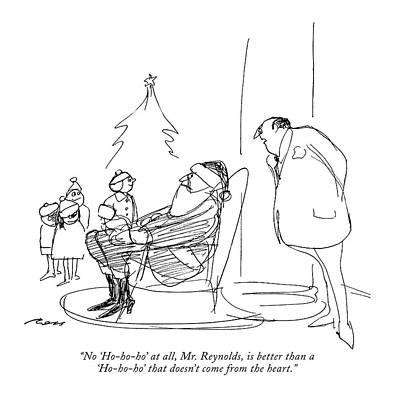 Authority Drawing - No 'ho-ho-ho' At All by Al Ross