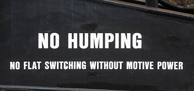 Photograph - No Humping by Joseph C Hinson Photography