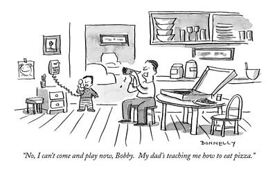 Teaching Drawing - No, I Can't Come And Play Now, Bobby.  My Dad's by Liza Donnelly