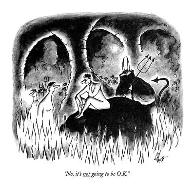 Devil Drawing - No, It's Not Going To Be O.k by Frank Cotham