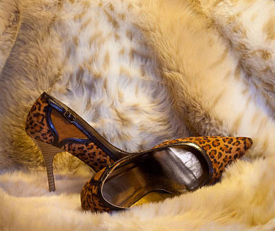 Photograph - Leopard And Fur High Heels by Patti Deters