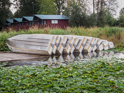 Photograph - Row Boats On Dock by Patti Deters
