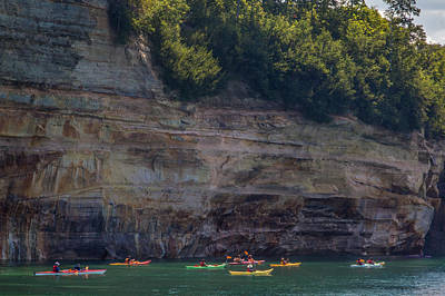 Photograph - Kayaks At Pictured Rocks by Patti Deters