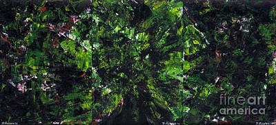 Painting - No Leaf Clover - Triptych  by Kamil Swiatek