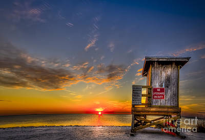 Florida Photograph - No Life Guard On Duty by Marvin Spates