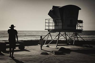 Cardiff Photograph - No Lifeguard On Duty by Joan Carroll