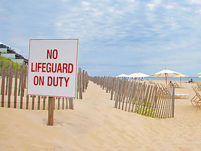 Photograph - No Lifeguard On Duty by Keith Armstrong
