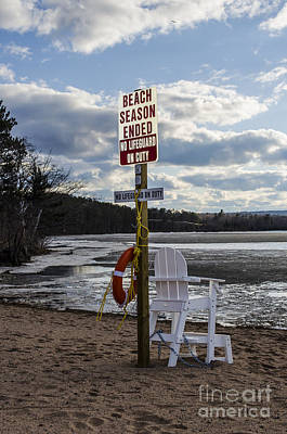 Sands Photograph - No Lifeguard On Duty Marquette by Deborah Smolinske