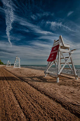 Evanston Photograph - No Lifeguard On Duty by Mike Burgquist