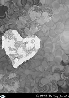 Digital Art - No Love Black And White by Holley Jacobs