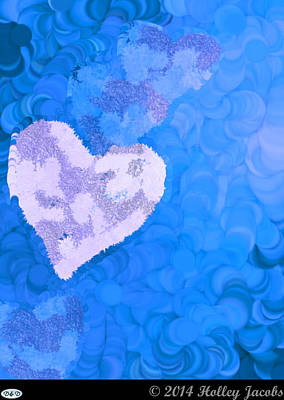 Digital Art - No Love Blue by Holley Jacobs
