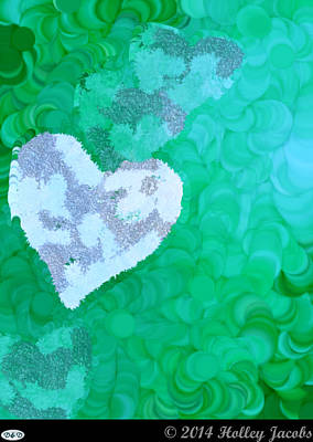 Digital Art - No Love Teal by Holley Jacobs