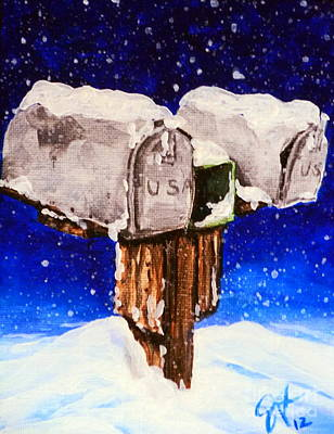 United States Postage Painting - No Mail Today by Jackie Carpenter