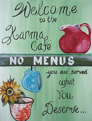 Painting - No Menus by Leslie Manley