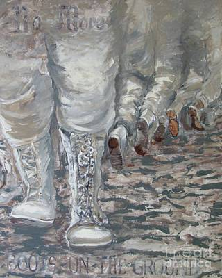 Painting - No More Boots by AnnE Dentler