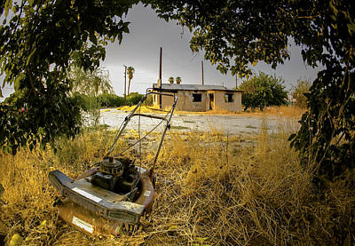 Telephone Poles Photograph - No More Chores by Scott Campbell