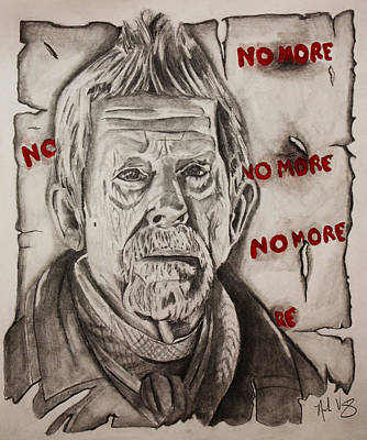 David Tennant Drawing - No More by Nick Vogt