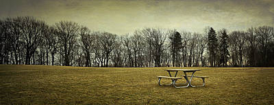 Tree-lined Photograph - No More Picnics by Scott Norris