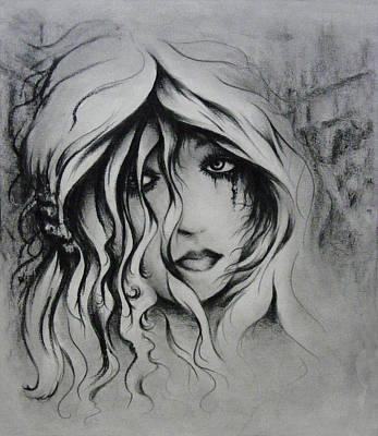 Tear Drawing - No More Tears by Rachel Christine Nowicki