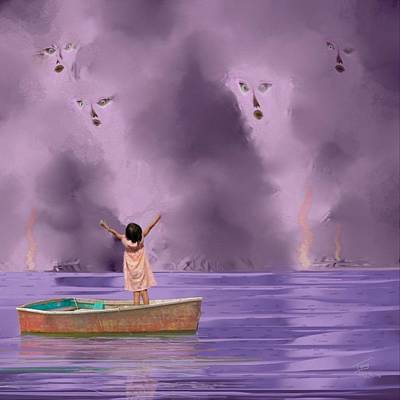Rowboat Digital Art - No More Wars by Tony Rodriguez