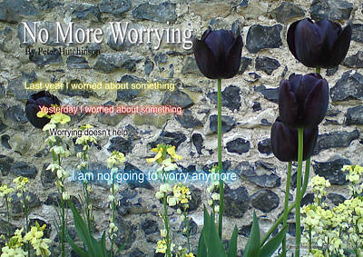 No More Worrying Art Print