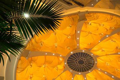 Photograph - Sunshine Yellow Silk Decor With Stars by Georgia Mizuleva