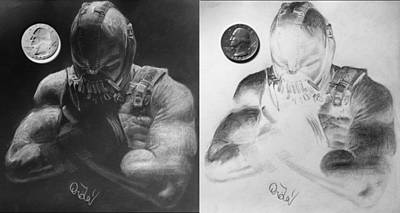 The Dark Knight Drawing - No One Cared Who I Was Before I Put On The Mask. by Jaedin Always