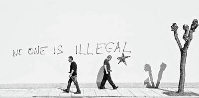 No One Is Illegal Art Print