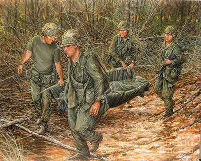 1st Division Painting - No One Left Behind by Bob  George
