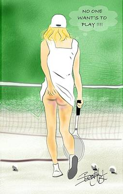 Painting - No One Wants To Play Tennis by S Robinson