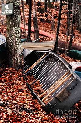 Canoe Photograph - No Parking by HD Connelly