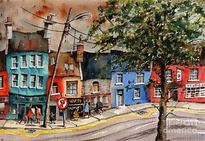 Painting - No Parking Kenmare Kerrry by Val Byrne