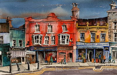 Painting - Now No Parking On Bray Main Wicklow by Val Byrne