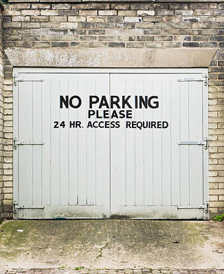 Information Age Photograph - No Parking by Tom Gowanlock