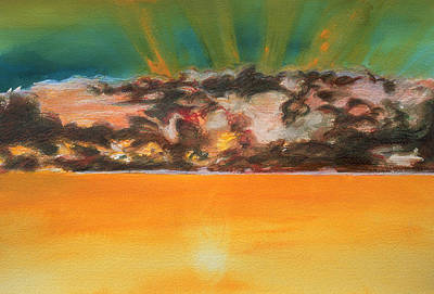 Tangerine Painting - No Peace In My Sunrise by Rene Capone