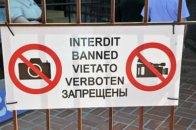 Banned Photograph - No Photography Sign by Photostock-israel