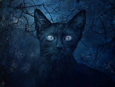 No Place For Scaredy Cats Art Print by Hazel Billingsley