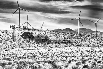 No Place Like Home Photograph - No Place Like Home Bw Palm Springs Desert Hot Springs by William Dey