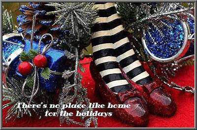 No Place Like Home Photograph - No Place Like Home For The Holidays by Judy Genovese