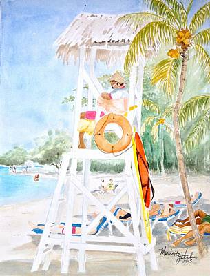 Painting - No Problem In Jamaica Mon by Marilyn Zalatan