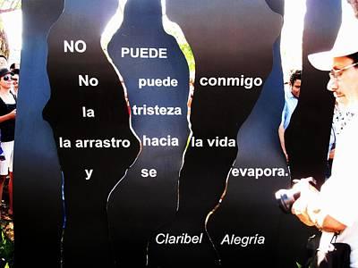 No Puede By Claribel Alegria Art Print