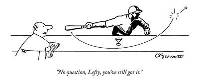 Martini Drawing - No Question by Charles Barsotti