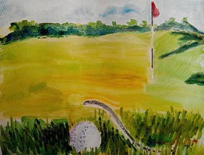 Painting - No Relief As Per Rules Of Golf by Geeta Biswas