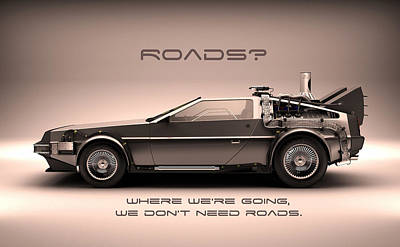 No Roads Print by Patrick Charbonneau