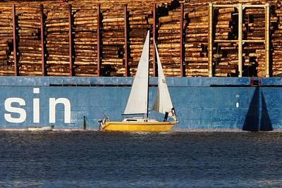No Sin In Sailing Art Print