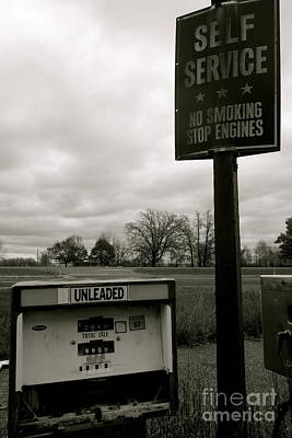 Gas Lamp Photograph - No Smoking Stop Engines by Jacqueline Athmann