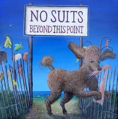 Laugh Painting - No Suits Beyond This Point by Kenneth Stockton