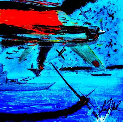 Dogfight Mixed Media - No Surrender by Sean Roderick